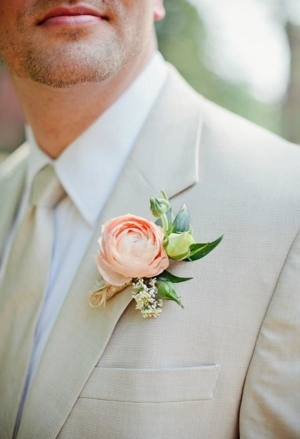 ranunculus wedding boutonniere ideas