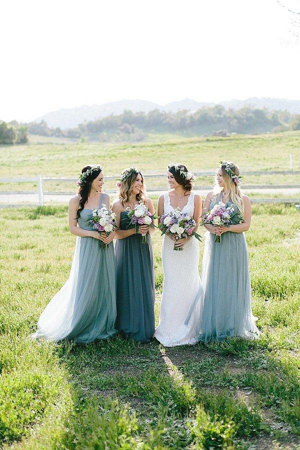 shades of green bridesmaid dresses