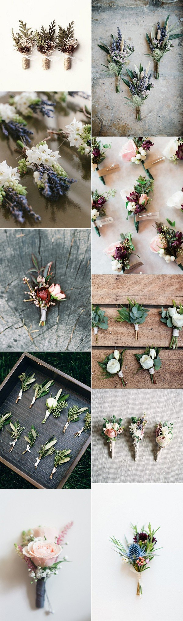stylish groomsmen wedding boutonniere ideas