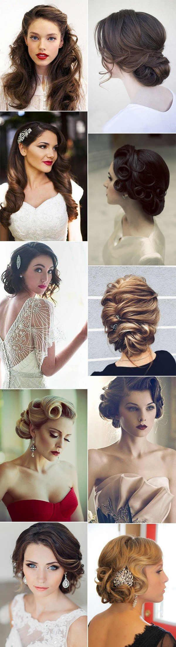 trending chic vintage wedding hairstyles