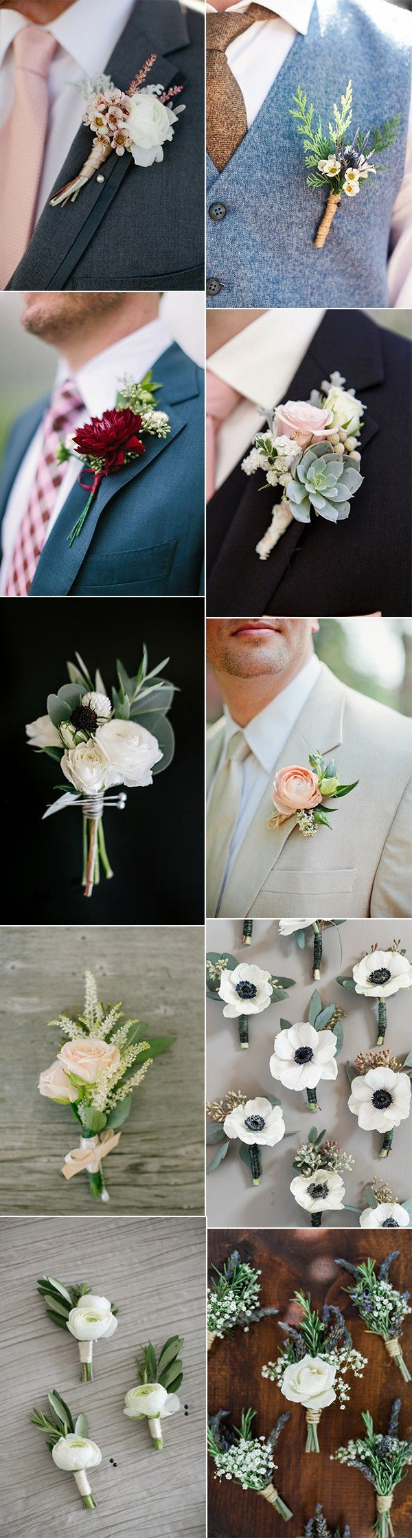 trending chic wedding groomsmen boutonniere ideas