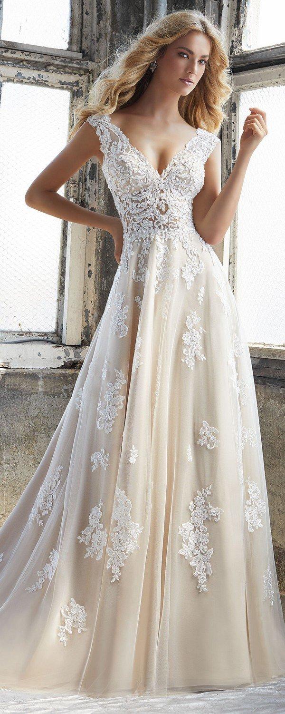 Kennedy v neck Morilee wedding dress for 2018