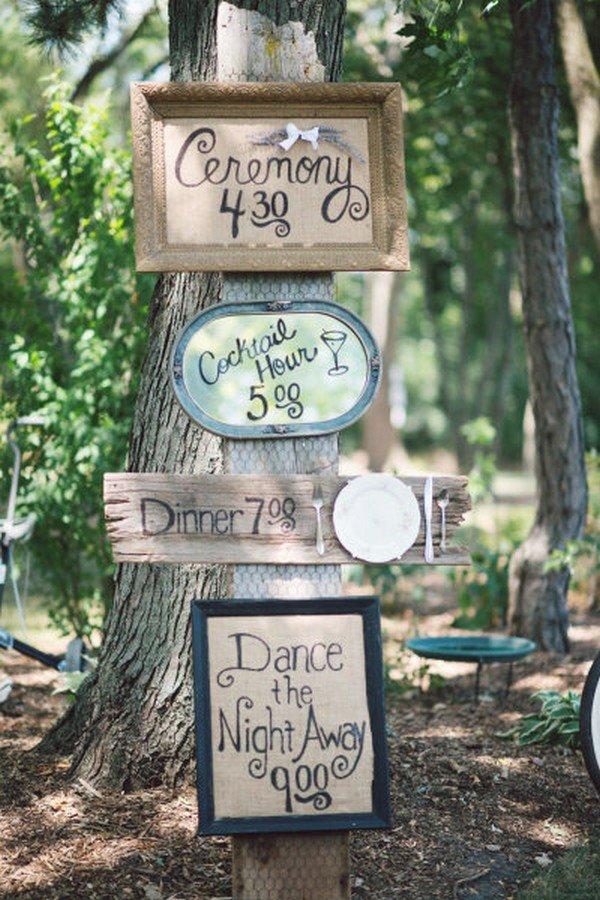 boho rustic wedding sign ideas