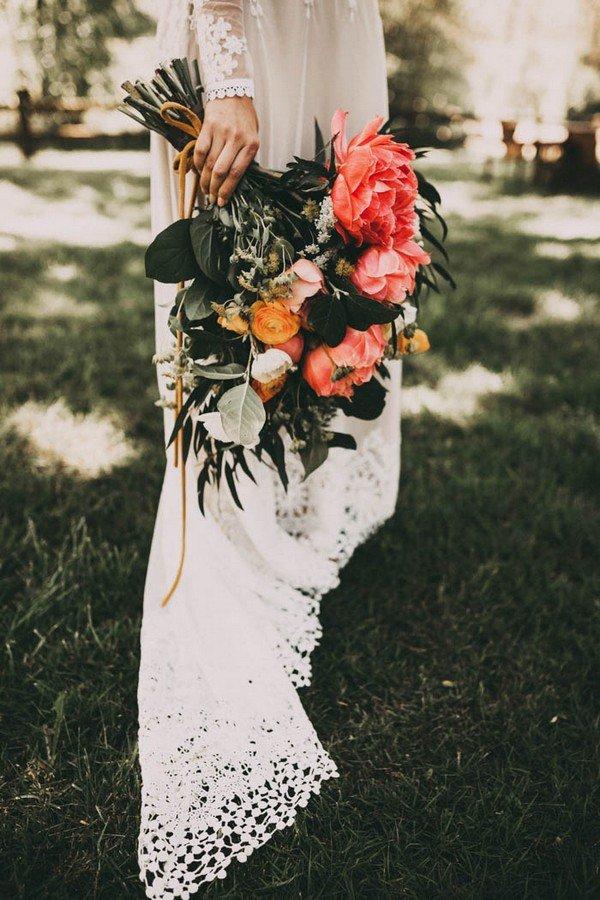 boho wedding bouquet ideas