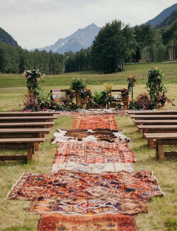 boho wedding ceremony decoration ideas