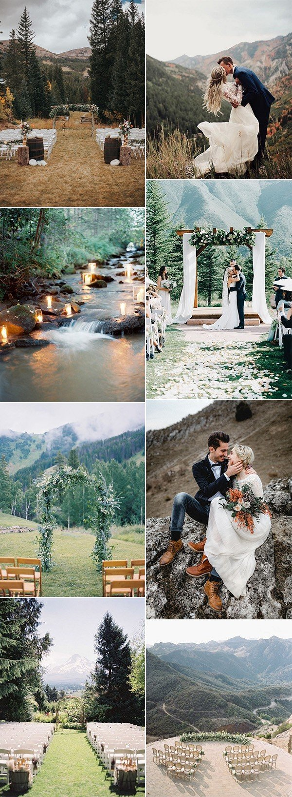 brilliant mountain wedding ideas for your big day