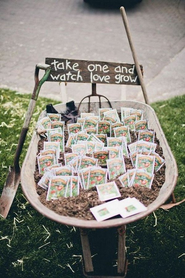 country farm wedding favor ideas