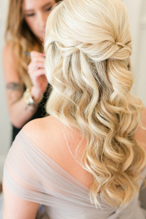 10 glamorous half up half down wedding hairstyles from hair and makeup girl oh best day ever. Black Bedroom Furniture Sets. Home Design Ideas