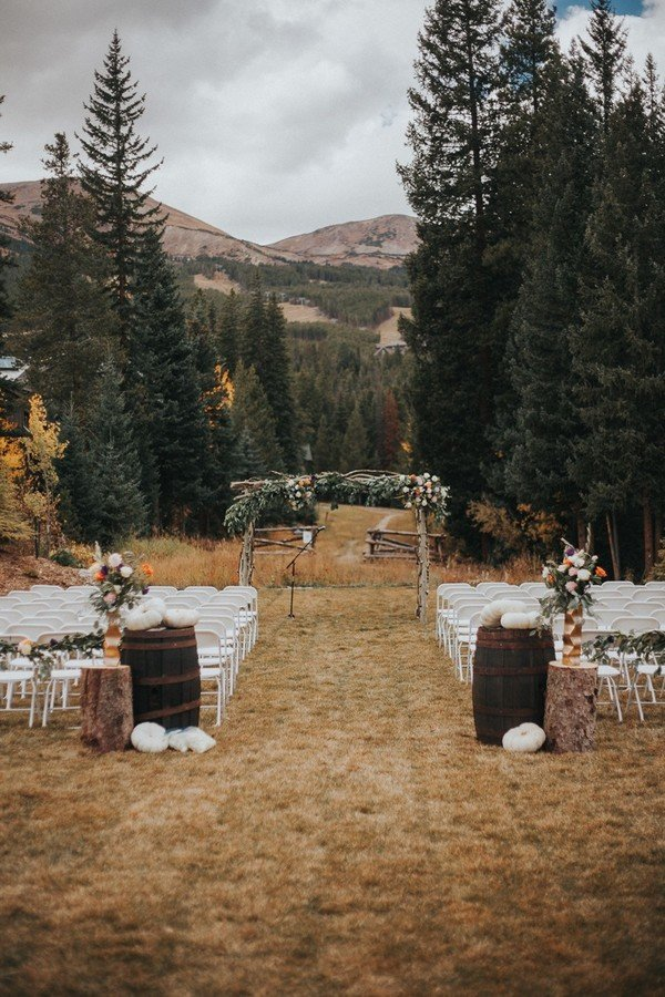 mountain side wedding ceremony ideas