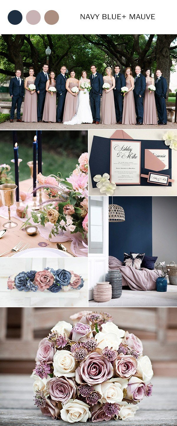 Navy Blue And Mauve Wedding Color Ideas For 2018