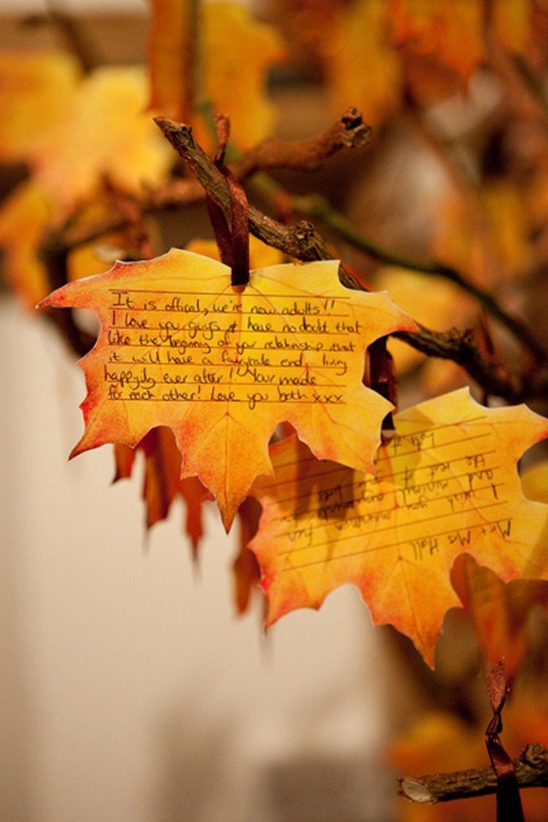 wedding wishing tree ideas for fall weddings