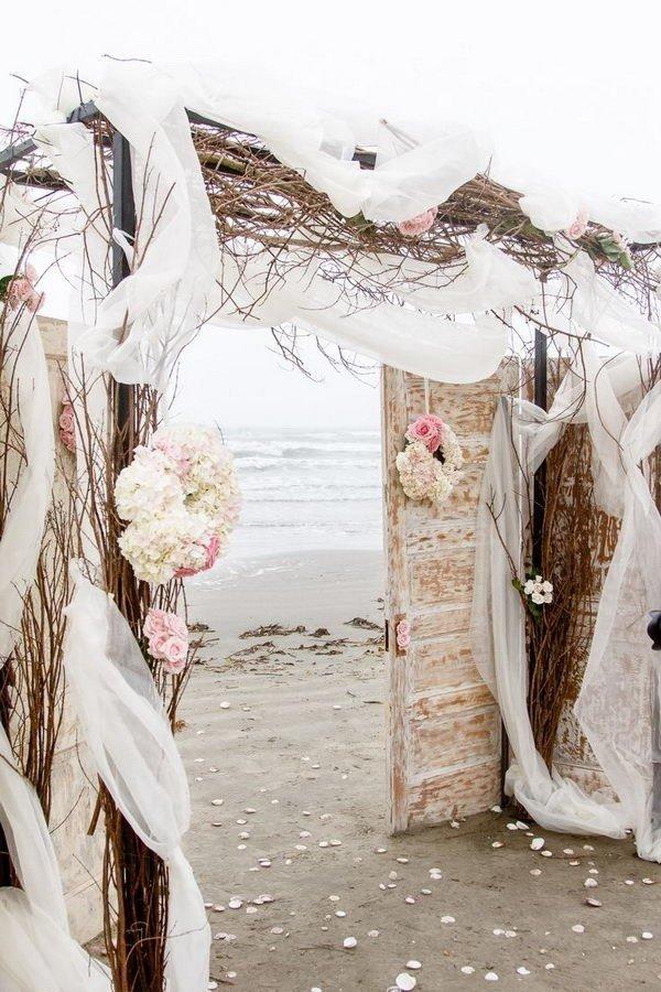 beach wedding arch ideas with old door