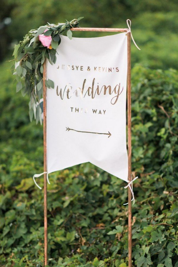 boho greenery wedding banner