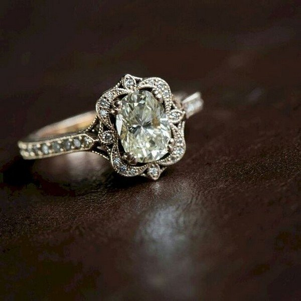 breathtaking vintage wedding engagement ring