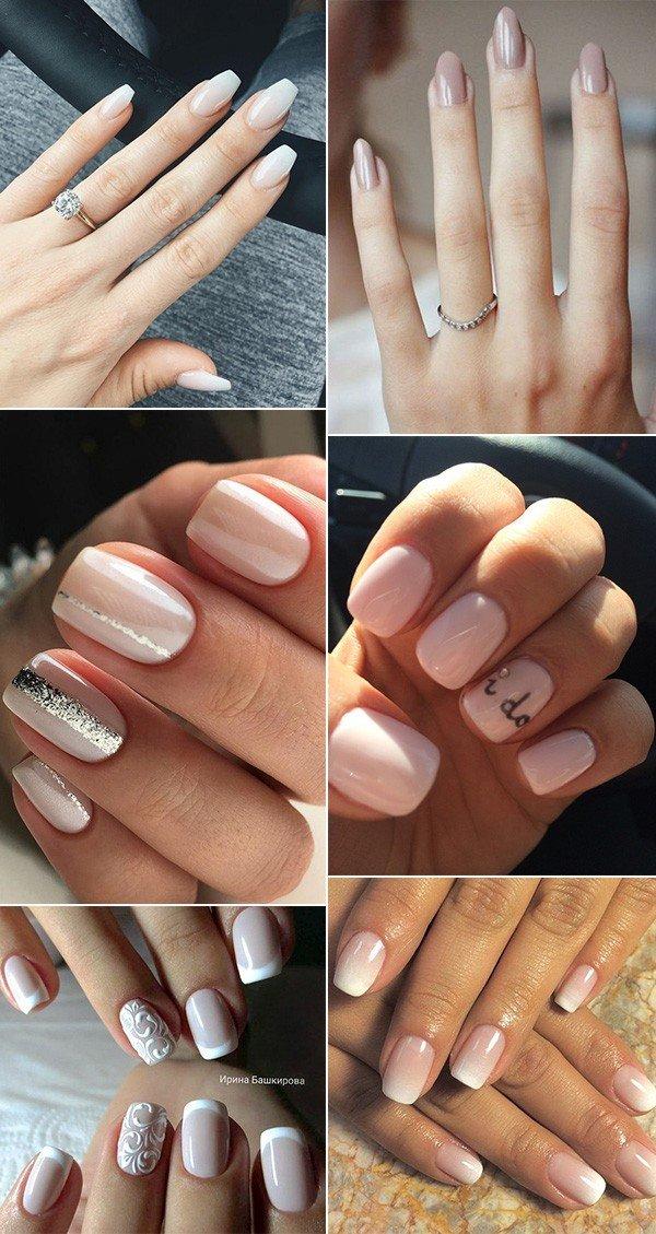 bridal nail design ideas for wedding day