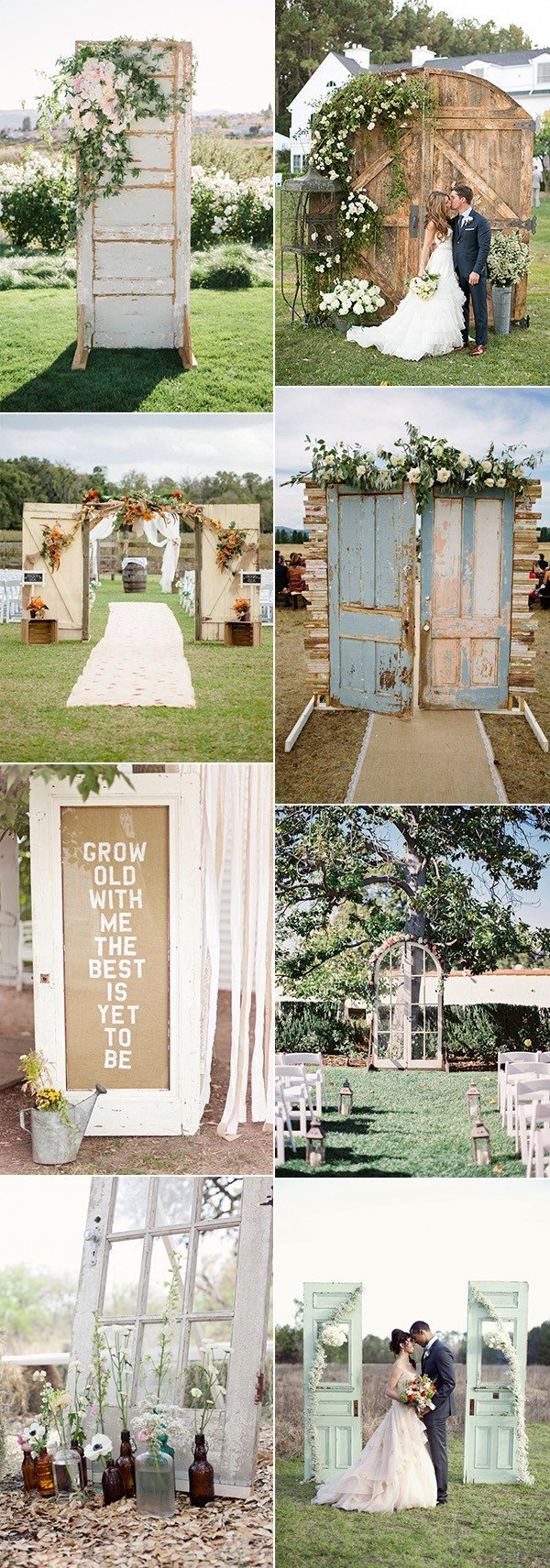 chic rustic wedding decoration ideas with old doors