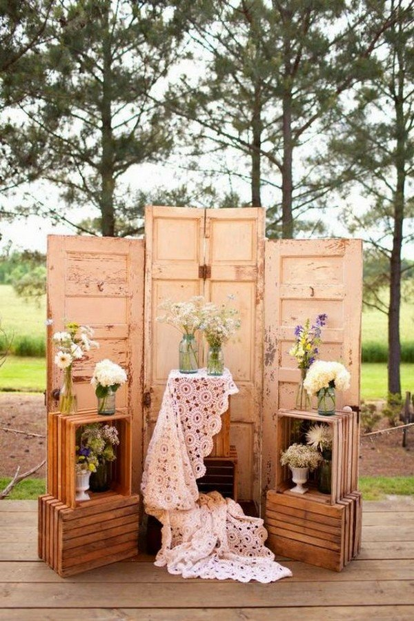 country wedding decoration ideas with old door