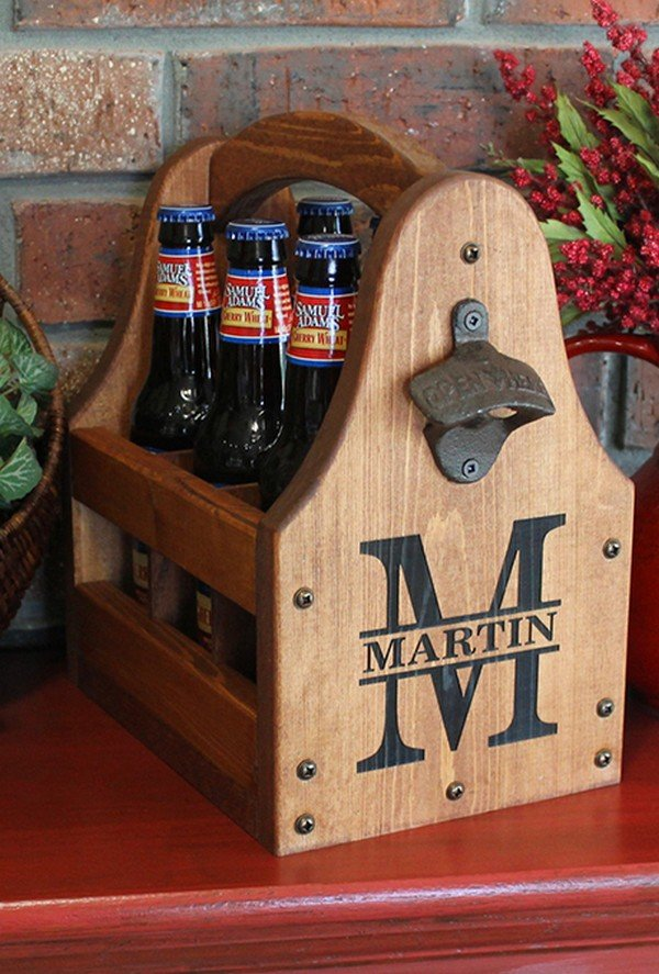 custom six-pack carriers groomsmen gift ideas