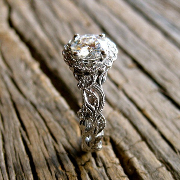 fancy vintage wedding engagement ring
