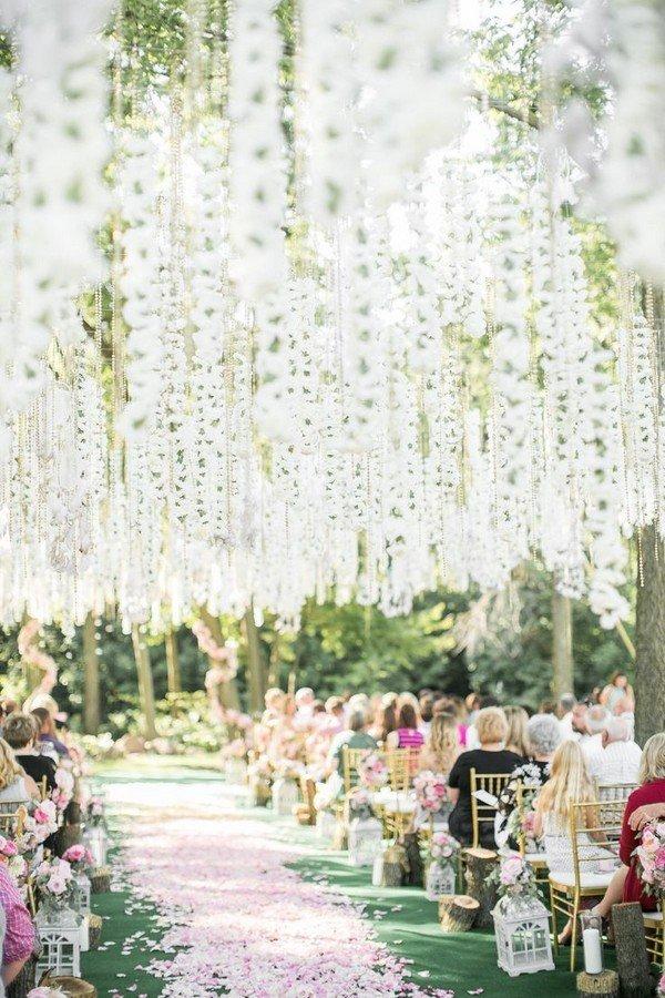 Trending-12 Fairytale Wedding Flower Ceiling Ideas for ...