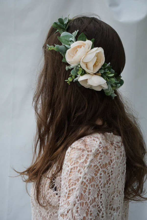 flower crown wedding hairstyles