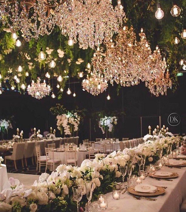 Reception archives oh best day ever greenery ceiling decoration ideas for wedding reception junglespirit Image collections