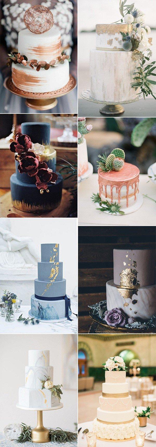 metallic wedding cake ideas