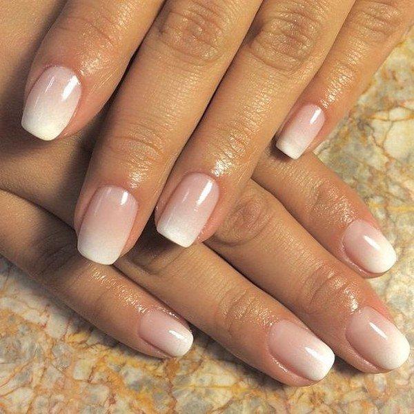 ombre wedding nail design