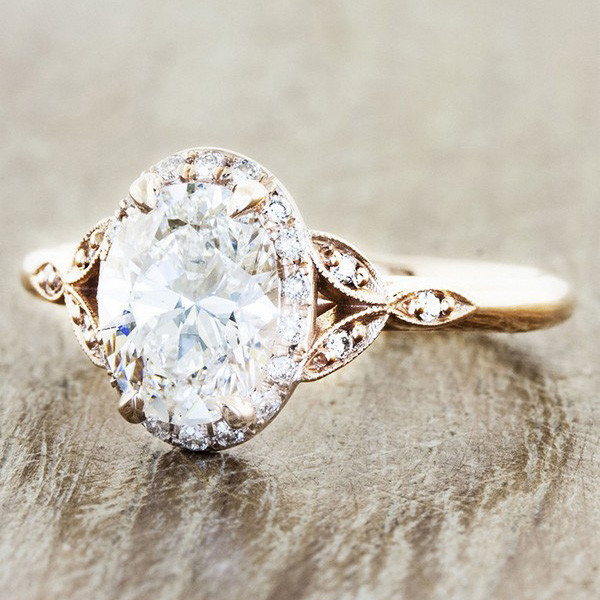 round vintage wedding engagement ring