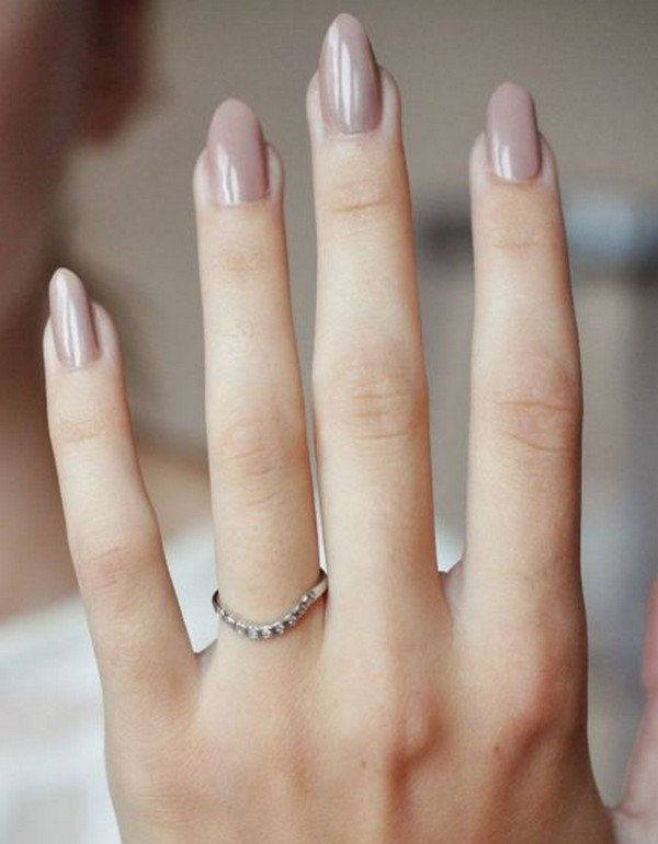 timeless nude elegant wedding nail design