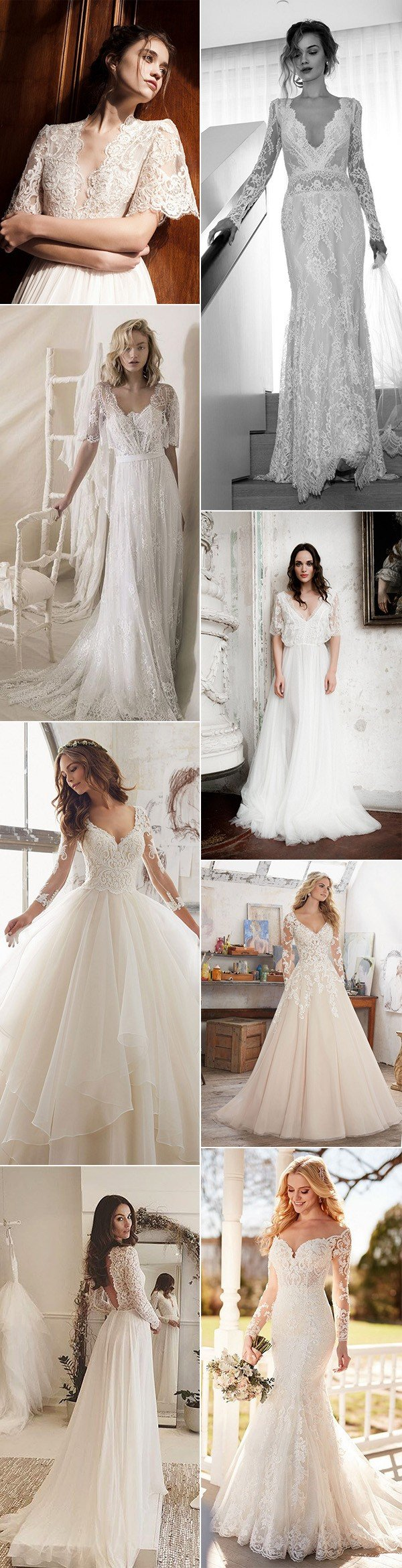 trending wedding dresses with long sleeves for 2018 trends