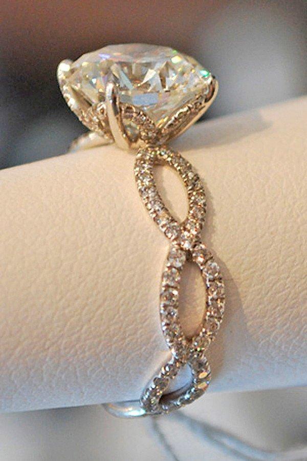 twisted vintage diamond wedding engagement ring