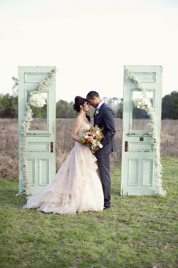 vintage old door wedding arch ideas