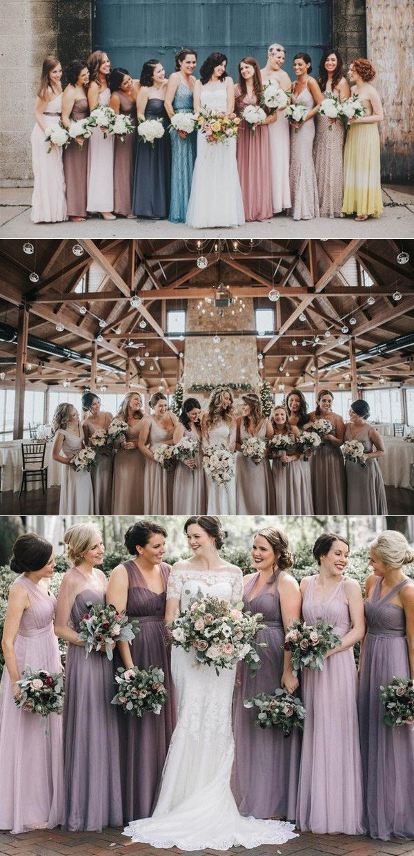2018 trending mismatched bridesmaid dresses