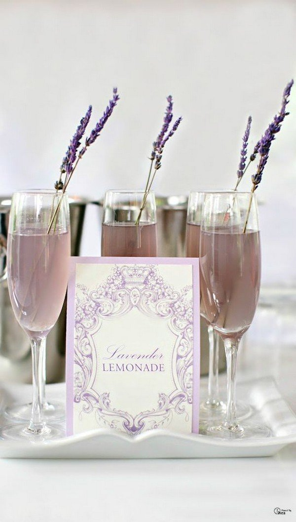 Lavender Lemonade with Vodka wedding signature drink ideas