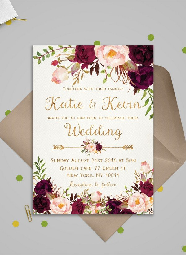 99+ [ Green And Purple Wedding Invitations ] - Watercolor Wedding Invitation Purple Green Teal ...