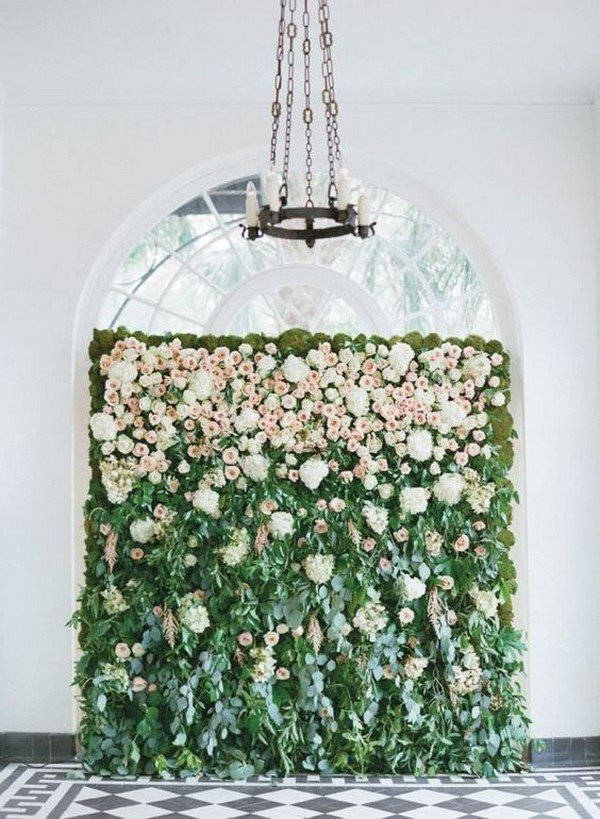 flower wall wedding backdrop ideas