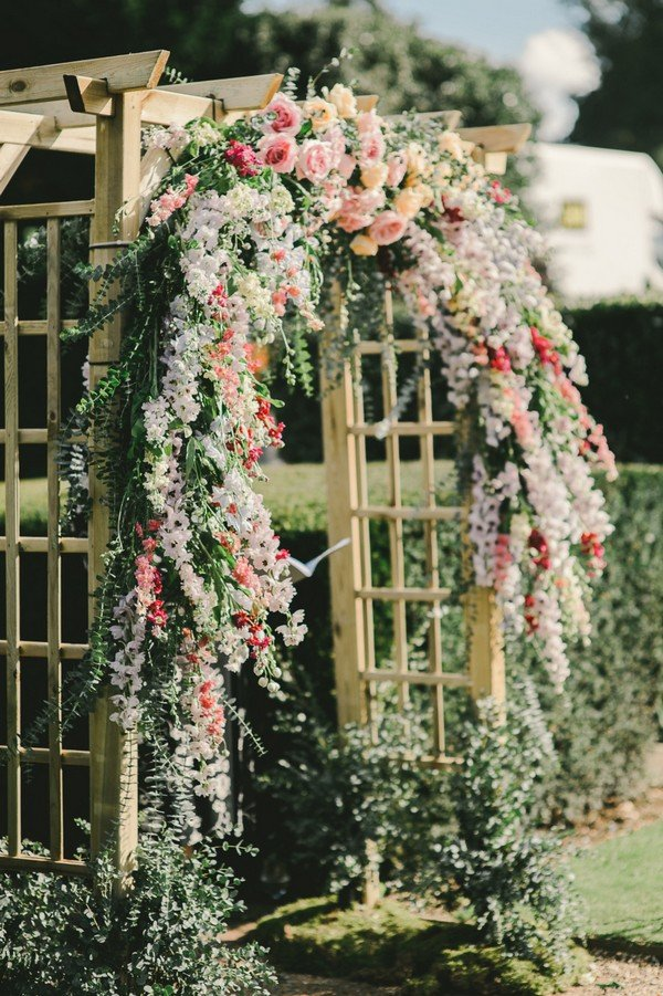 garden wedding arch decorations with floral
