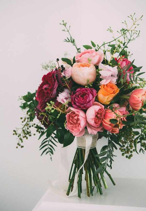jewelry tones wedding bouquet ideas