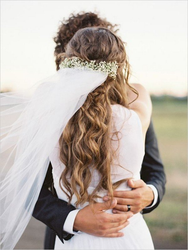 Wedding hairstyles archives oh best day ever long wedding hairstyle ideas with flower crown and veil junglespirit