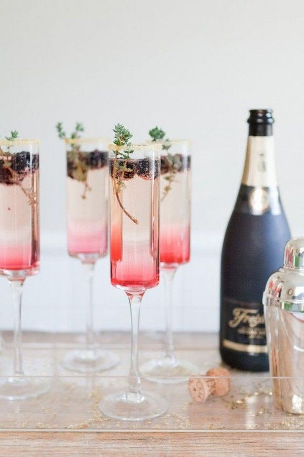 pink and gold wedding drink ideas