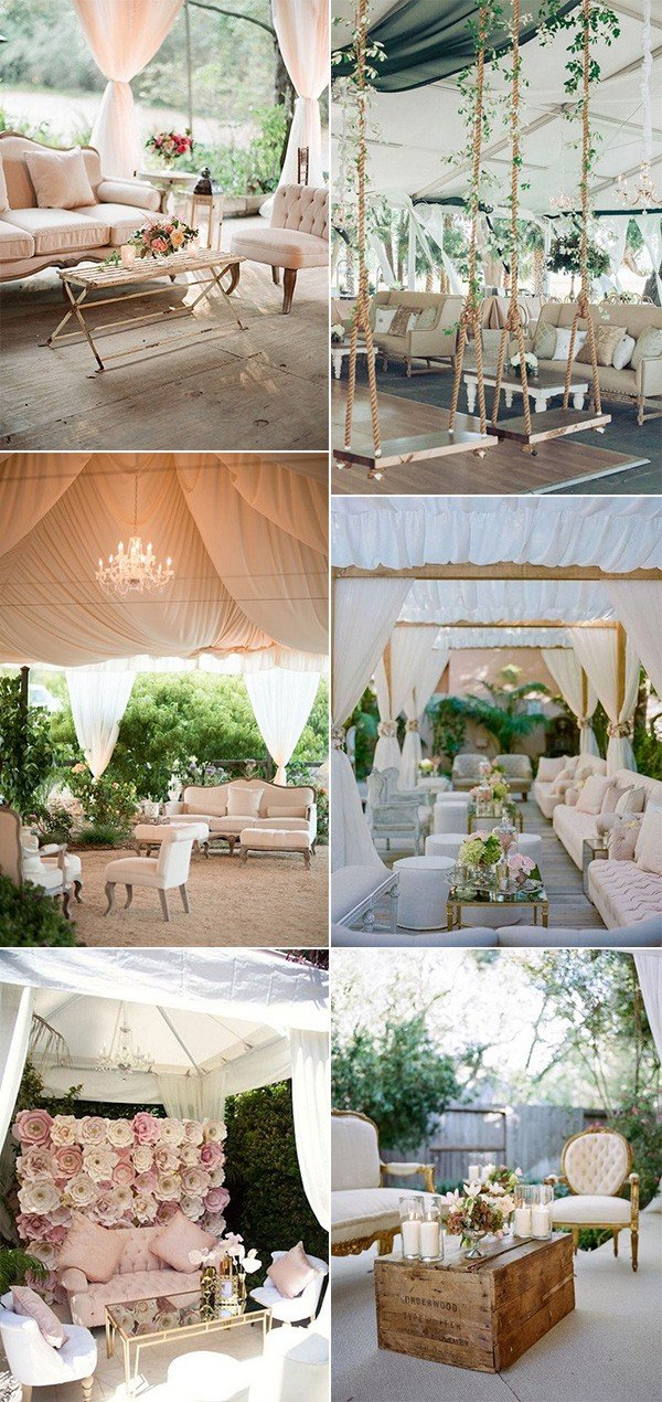 reception lounge areas for tented wedding ideas