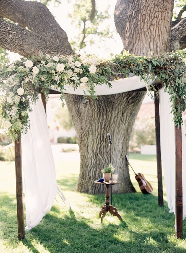 rustic floral wedding arch ideas