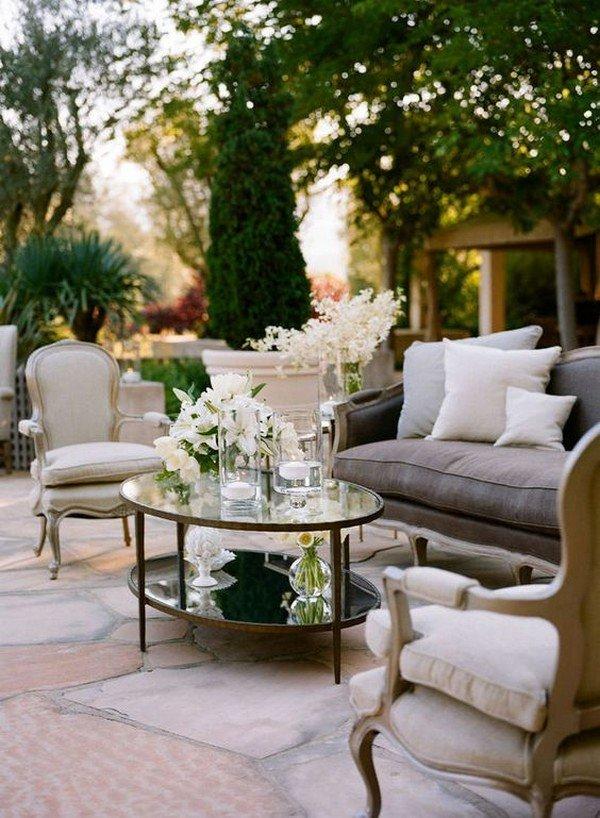 stylish and comfortable wedding reception lounge area ideas
