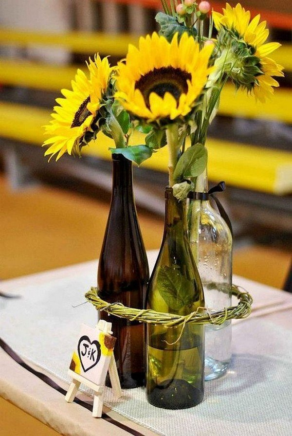 sunflower wedding centerpiece ideas