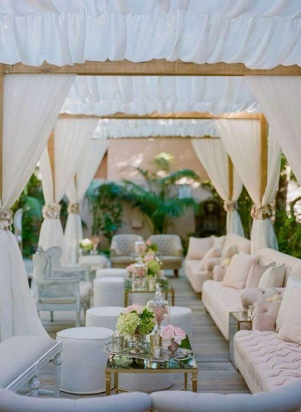 trending tented wedding lounge area ideas