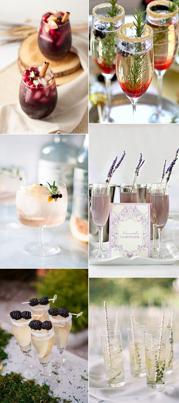 trending wedding signature drink ideas
