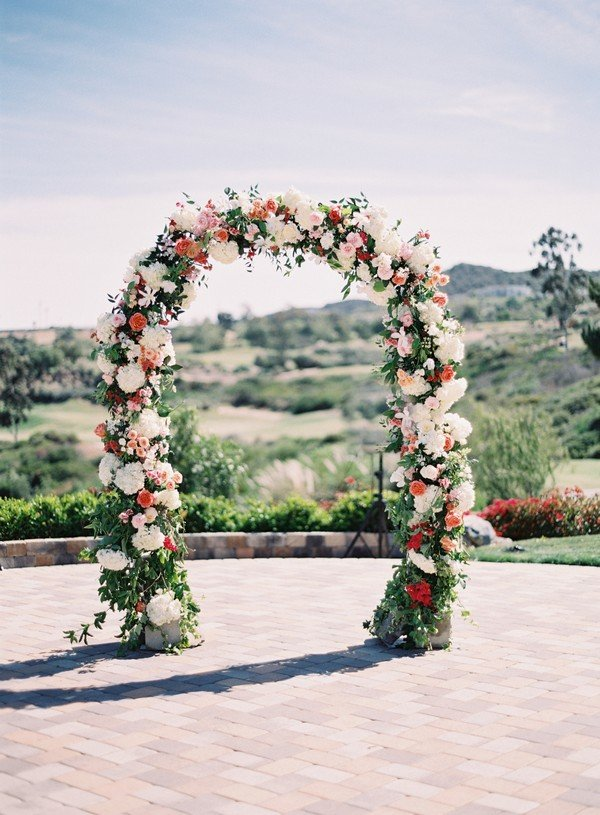 wedding arch decoration ideas with floral