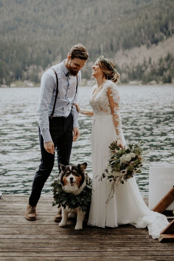 Beautiful elopement wedding ideas in the Olympic National Forest