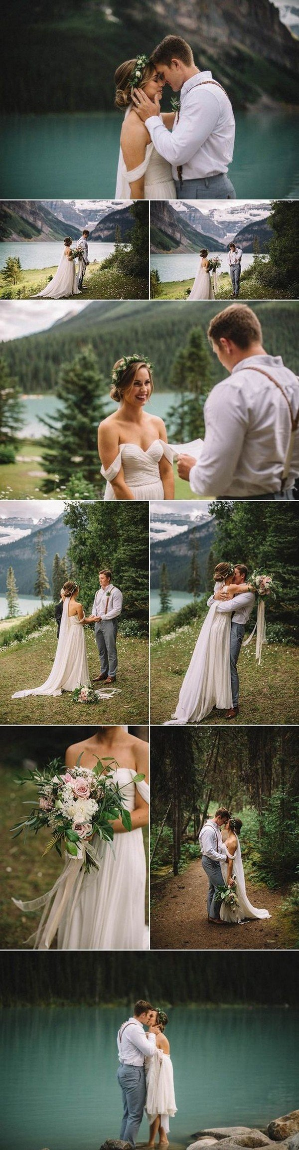 Lake Louise elopement photo ideas